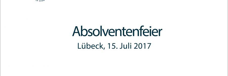 Absolventenfeier der Universität zu Lübeck
